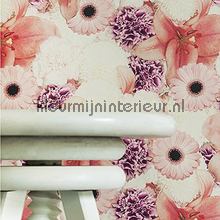 Roze bloementrio fotobehang Behang Expresse Wallpaper Queen ML207