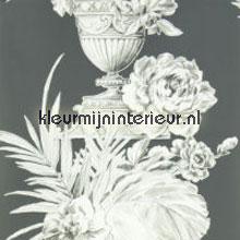 Palmieri charcoal behang Designers Guild Zephirine P54604