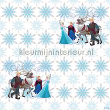 Frozen snowflakes wallcovering Dutch Wallcoverings girls