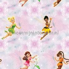 Fairies pink flowers wallcovering Dutch Wallcoverings girls