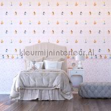 Princess pink flourishes wallcovering Dutch Wallcoverings girls
