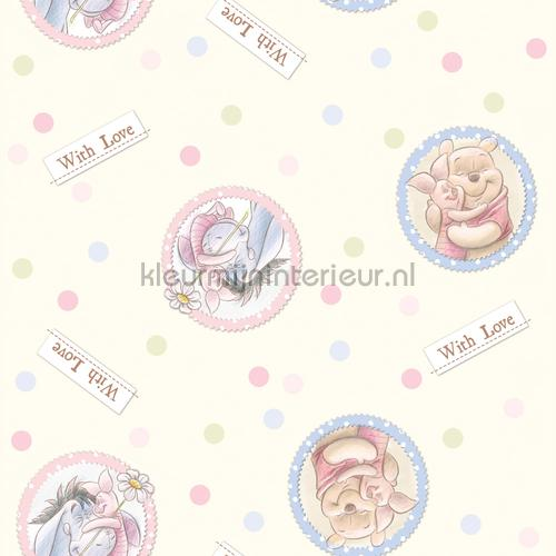 Baby Disney Behang.Winnie The Pooh With Love Wpd9744 Behang Ag Design Disney Dutch