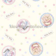 Winnie the pooh with love behang Dutch Wallcoverings Baby Peuter