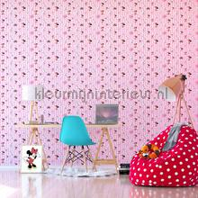 Minnie Mouse and Daisy name tags wallcovering Dutch Wallcoverings girls