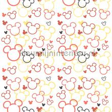 Minnie en Mickey mouse silhouette wallcovering Dutch Wallcoverings girls