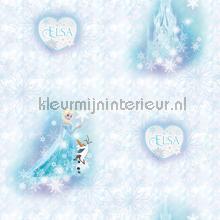 Frozen Elsa en olaf behang Dutch Wallcoverings meisjes