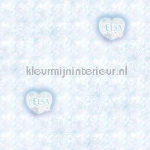 Frozen Elsa Hearts behang Dutch Wallcoverings meisjes