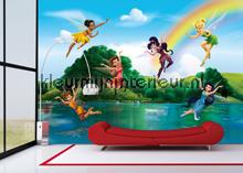 Behang Kinderkamer Regenboog : Tinkerbell bij de regenboog ftd 2222 fotobehang ag design ag design