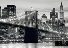 Brooklyn Bridge in zwart-wit fotobehang AG Design AG Design FTS-0199