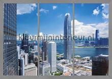 Uitzicht op de wolkenkrabbers fotomurales AG Design AG Design FTS-1318