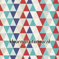 Kaleidoscope red blue multi tapet Harlequin All about me 110525