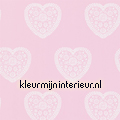 Sweet hearts soft pink papel de parede Harlequin quadrado