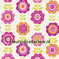 Oopsie daisy pink orange tapet Harlequin All about me 110546