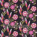 FUNKY FLOWERS black cortinas Harlequin quadrado