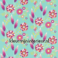 FUNKY FLOWERS turquoise rideau Harlequin All about me 120220