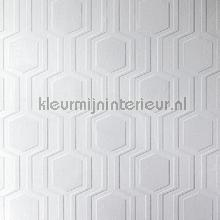 Geo wallcovering Anaglypta Veloute Flock