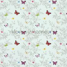 Sparkling butterflies wallpaper XXXL behang AdaWall meisjes