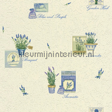 Lavendelfris behang Rasch behang