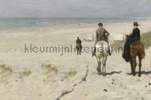 Morgenrit langs het strand Mauve photomural BN Wallcoverings Art 30565