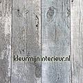 Oud hout grijs-blauw behang Top 15 inspiratie