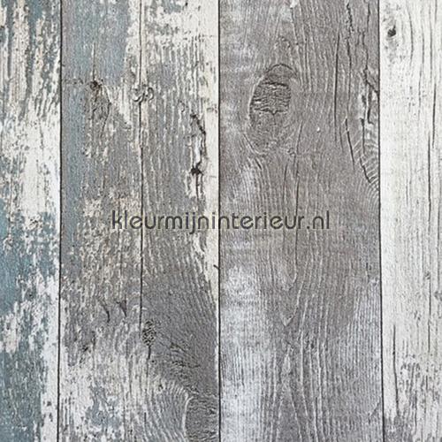 oud hout grijs turquoise behang z68616 assorti noordwand