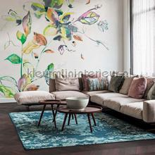 Aqaurel bloemen photomural BN Wallcoverings Mural room set photo's
