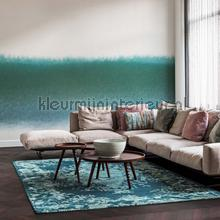 Petrolgroen kleurverloop fotomurais BN Wallcoverings PiP studio wallpaper