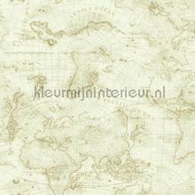 Coastal map off white papier peint Eijffinger Atlantic 343022
