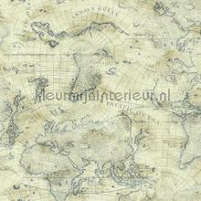 Coastal map off beige tapet Eijffinger urban