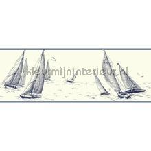 Sailboat border behang Eijffinger randen