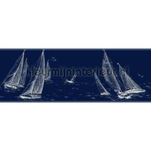 Sailboat border blue behang Eijffinger randen