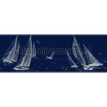 Sailboat border blue tapet Eijffinger kanter
