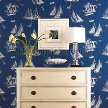 Sailboat toile blue tapet Eijffinger urban