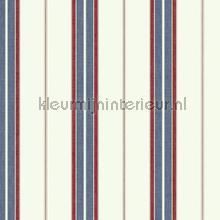 Bay stripe blue and red papier peint Eijffinger Atlantic 343062
