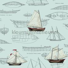 Pond Yachts blue tapeten Eijffinger weltraum