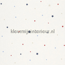 Sterrenhemel rood wit blauw papel de parede Rasch Bambino XVII 245226