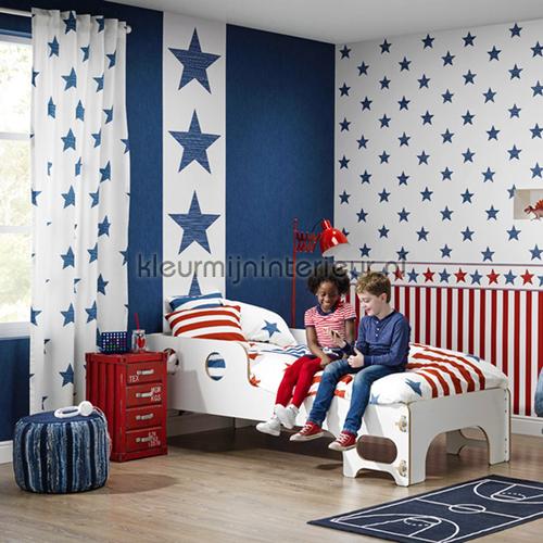 giga ster blauw 245523 behang bambino xvii rasch. Black Bedroom Furniture Sets. Home Design Ideas