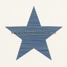 Giga ster blauw behang Rasch Bambino XVII 245523