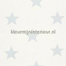 Medium stars licht blauw papel de parede Rasch Bambino XVII 245615