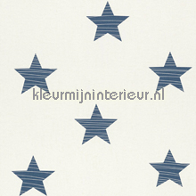 Medium stars blauw behang Rasch Bambino XVII 245622