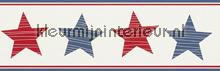 Stars rand rood wit blauw papel de parede Rasch Bambino XVII 245721