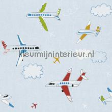 Vliegtuigen behang Rasch jongens