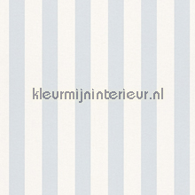 Streep licht blauw behang Rasch Bambino XVII 246025