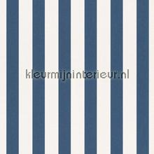 Streep blauw wit behang Rasch Bambino XVII 246049