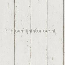 Hout in neutraal wit wallcovering Rasch wallpaper Top 15
