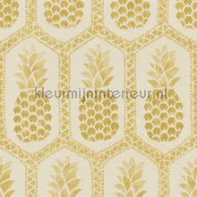 Ananas patroon papel de parede Rasch BB Home Passion 862102