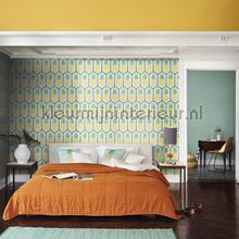 Ananas patroon papel de parede Rasch BB Home Passion 862133
