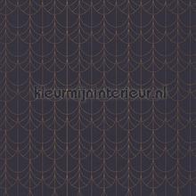 belle epoque filament blue-cuivre tapet Casadeco Belle Epoque BEEP82266438