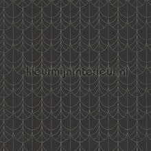 Belle epoque filament noir behang Casadeco klassiek