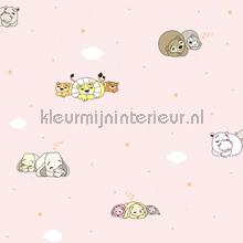 Slapende dieren behang wallcovering Rasch Bimbaloo 2 330044